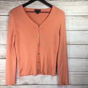 Ann Taylor Long Sleeve Button Up Cardican Sweater